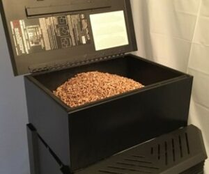 Where is a pellet stove serial number?